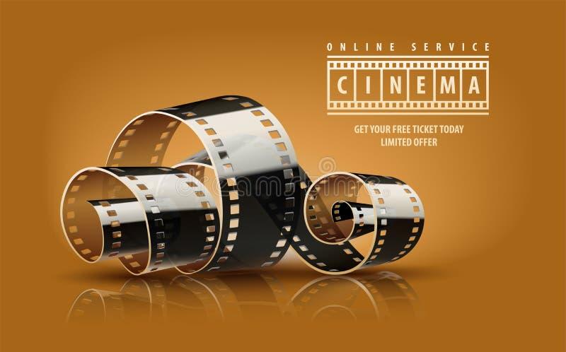 Εξέλικτρο ταινιών κινηματογράφων κινηματογράφων απεικόνιση αποθεμάτων