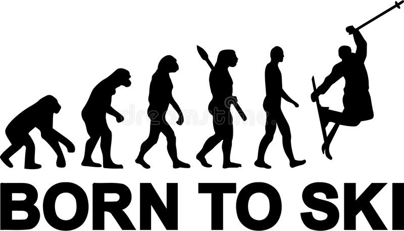 Εξέλιξη άλματος σκι ελεύθερη απεικόνιση δικαιώματος