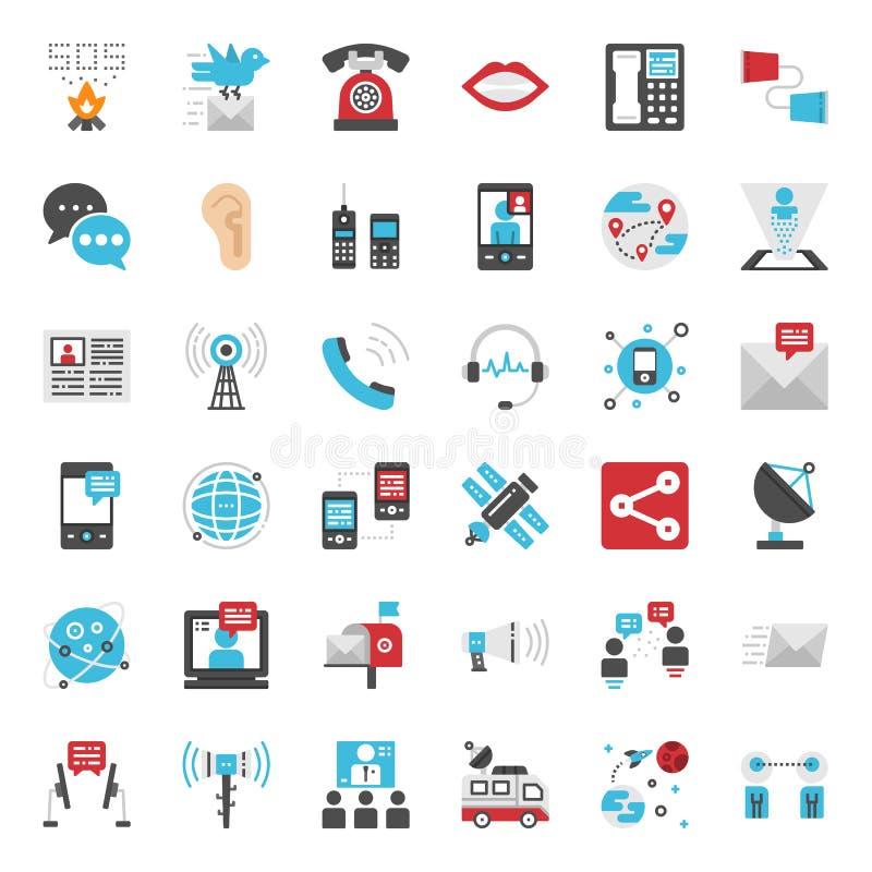 Εξέλιξη επικοινωνίας διανυσματική απεικόνιση