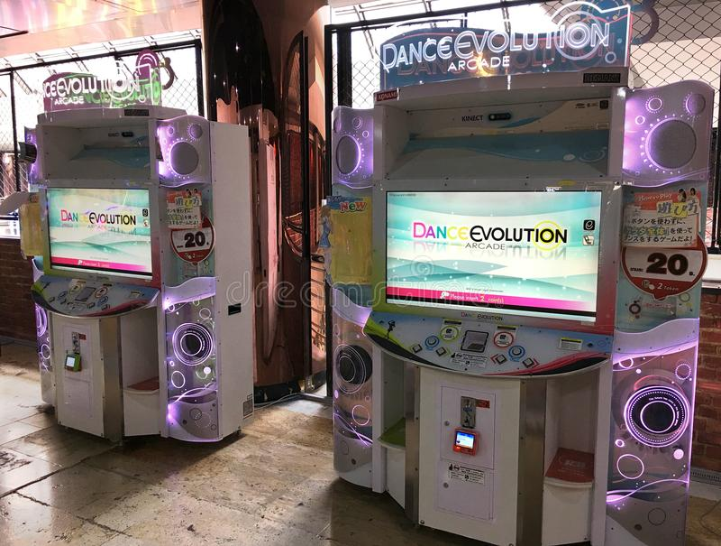 Εξέλιξη χορού arcade στη λεωφόρο MBK, Μπανγκόκ στοκ εικόνες με δικαίωμα ελεύθερης χρήσης