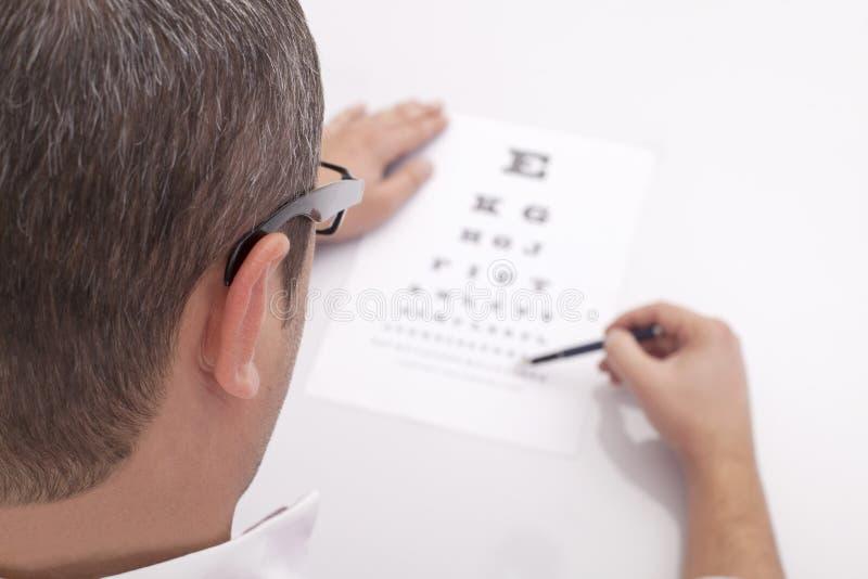 Εξέταση οφθαλμών στοκ εικόνα με δικαίωμα ελεύθερης χρήσης