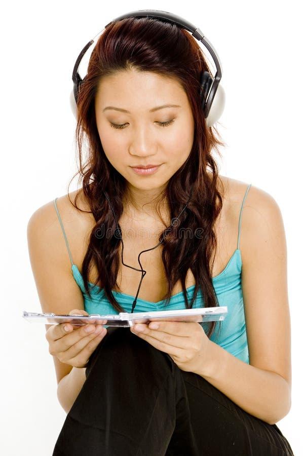Εξέταση το CD στοκ φωτογραφίες