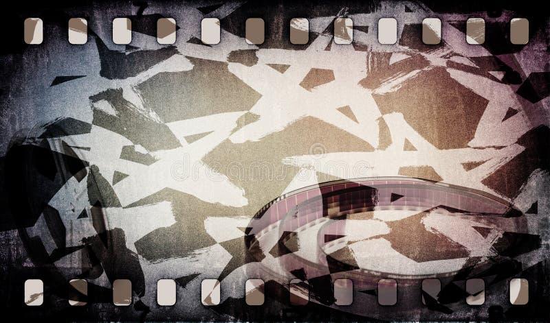 Εξέλικτρο ταινιών κινηματογραφικών ταινιών με τη λουρίδα και τα αστέρια στοκ εικόνες
