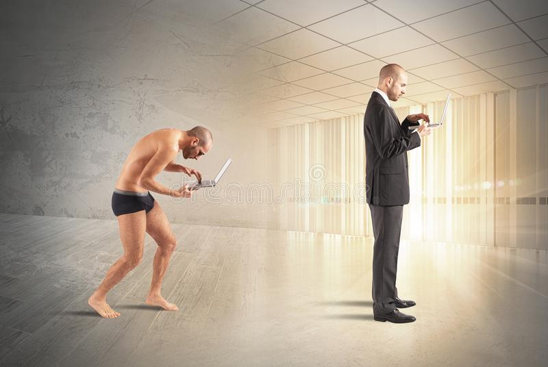 Εξέλιξη του επιχειρηματία στοκ φωτογραφία με δικαίωμα ελεύθερης χρήσης