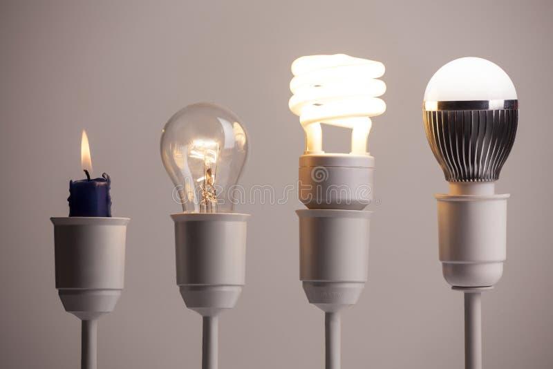 Εξέλιξη φωτισμού στοκ εικόνες με δικαίωμα ελεύθερης χρήσης