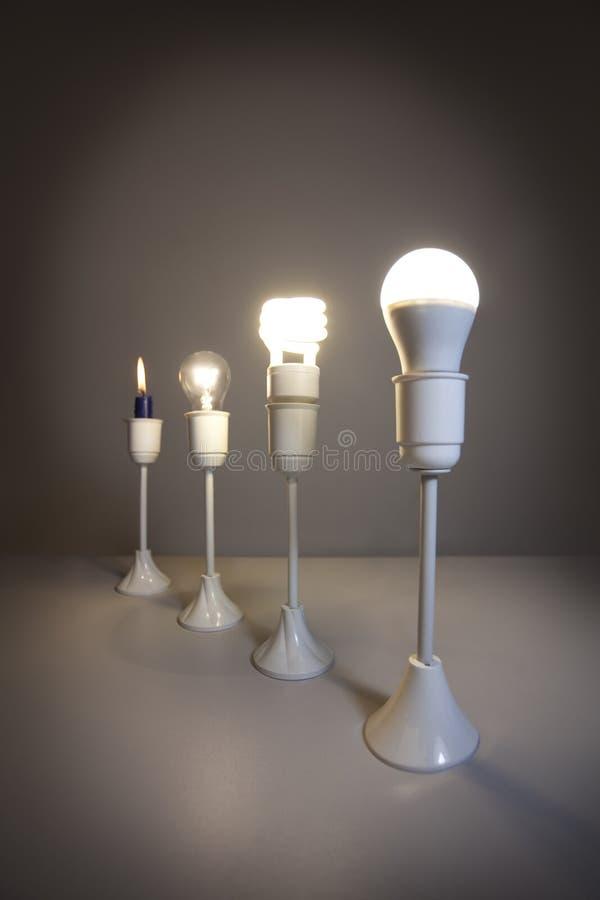 Εξέλιξη φωτισμού διανυσματική απεικόνιση