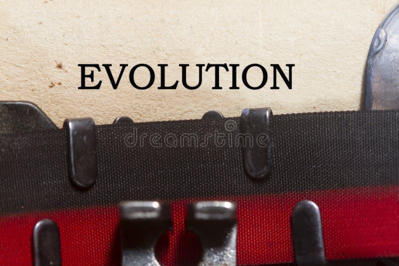 εξέλιξη στοκ φωτογραφία
