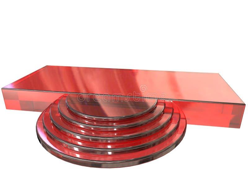 Εξέδρα που χρωματίζεται σύγχρονη στο κόκκινο ελεύθερη απεικόνιση δικαιώματος