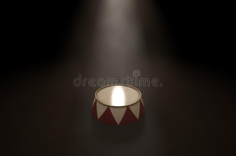 Εξέδρα Spotlit τσίρκων διανυσματική απεικόνιση