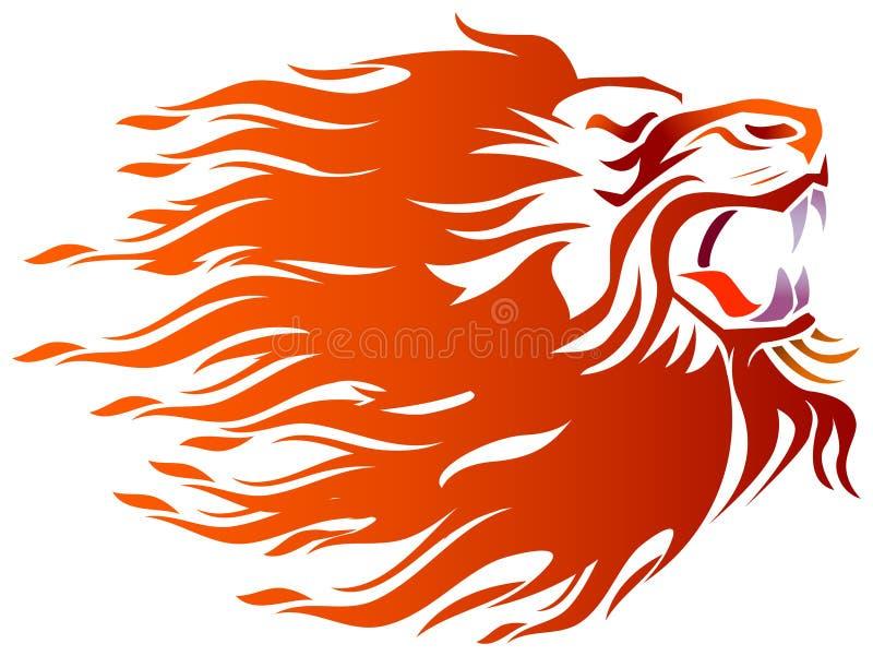 Εξαγριωμένος στο λιοντάρι ελεύθερη απεικόνιση δικαιώματος