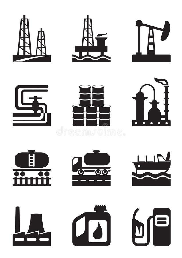 Εξαγωγή και επεξεργασία του πετρελαίου ελεύθερη απεικόνιση δικαιώματος