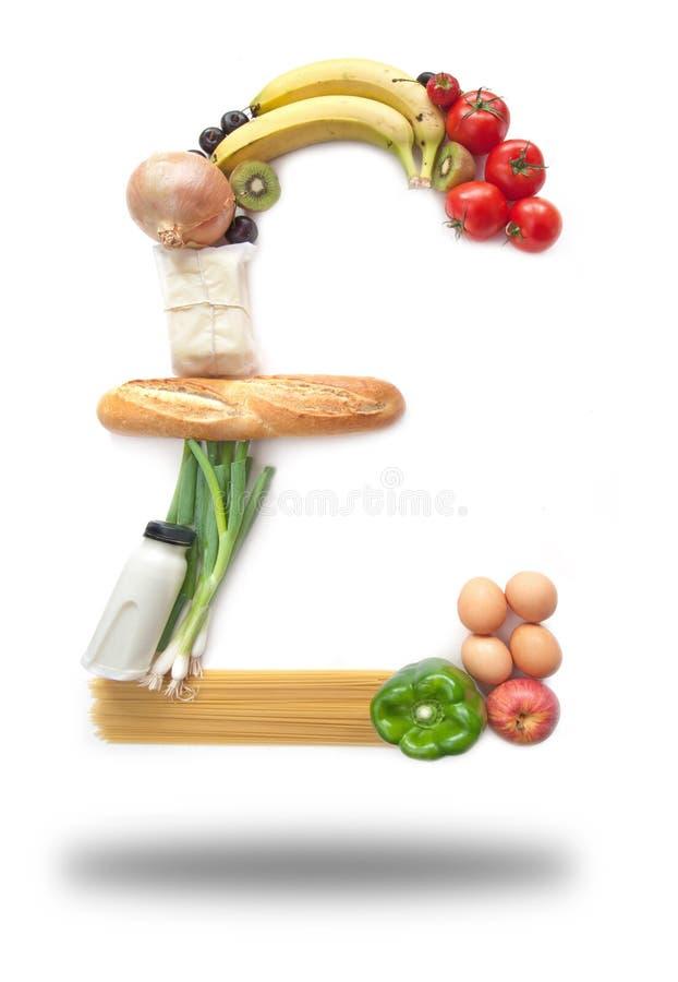 Εξαιρετικά παντοπωλεία τροφίμων σημαδιών λιβρών στοκ φωτογραφία με δικαίωμα ελεύθερης χρήσης
