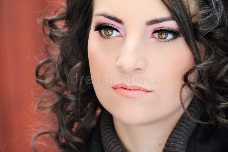 εξαιρετικά eyelashes μακριά γυναί& στοκ εικόνες