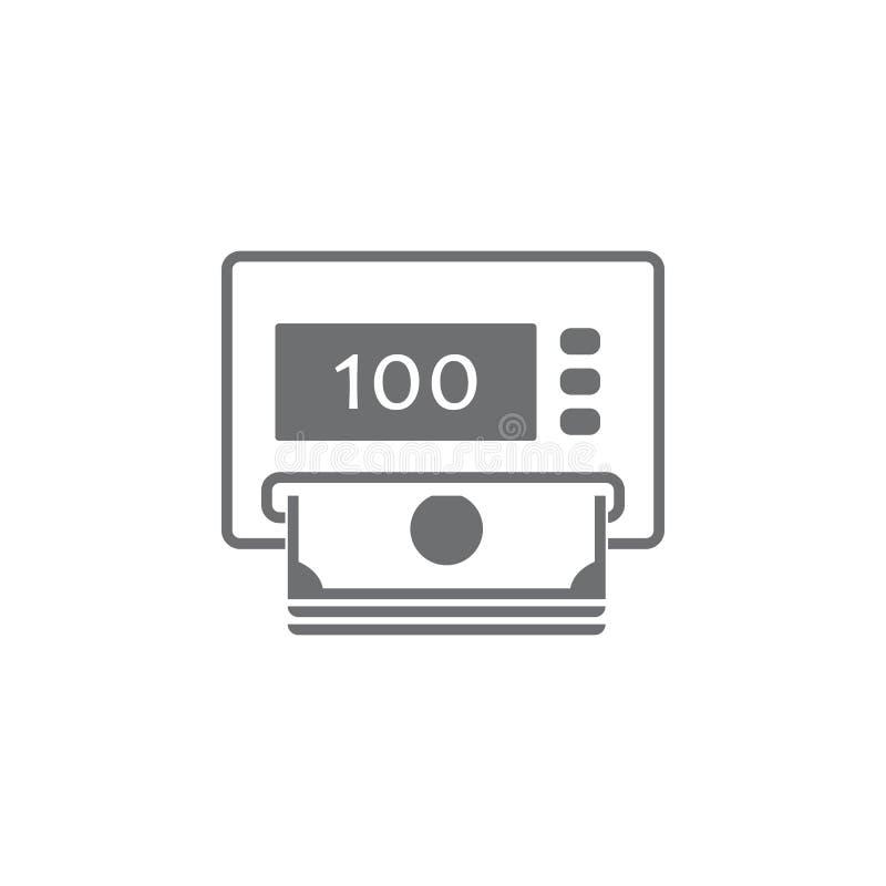 Εξαργύρωση από ένα εικονίδιο του ATM Απλή απεικόνιση στοιχείων Επιχειρησιακά εικονίδια καθολικά για τον Ιστό και κινητά ελεύθερη απεικόνιση δικαιώματος