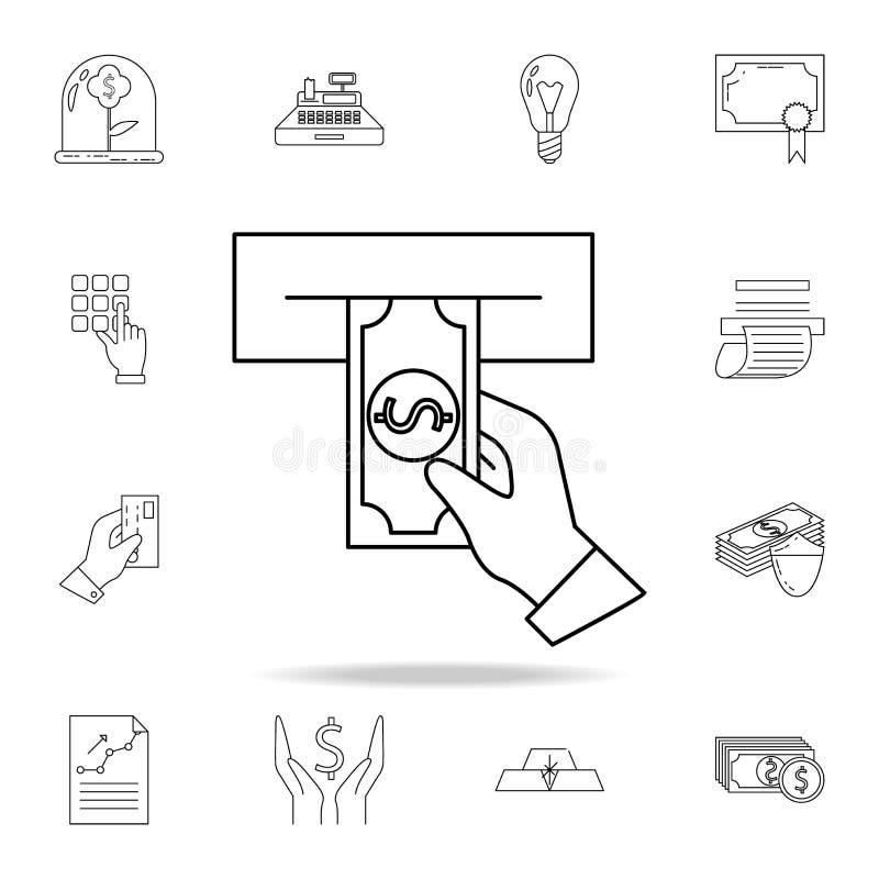Εξαργύρωση από ένα εικονίδιο του ATM  Γραφικό εικονίδιο σχεδίου εξαιρετικής ποιότητας Ένα από τα εικονίδια συλλογής για ελεύθερη απεικόνιση δικαιώματος