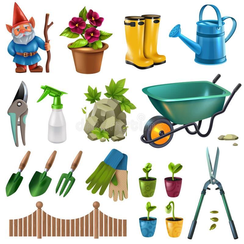 Εξαρτήματα κήπων καθορισμένα διανυσματική απεικόνιση
