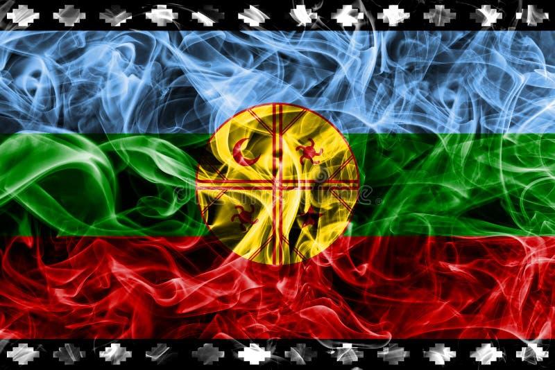 Εξαρτώμενο fla εδαφών σημαιών, της Χιλής και της Αργεντινής καπνού Mapuche στοκ εικόνα με δικαίωμα ελεύθερης χρήσης