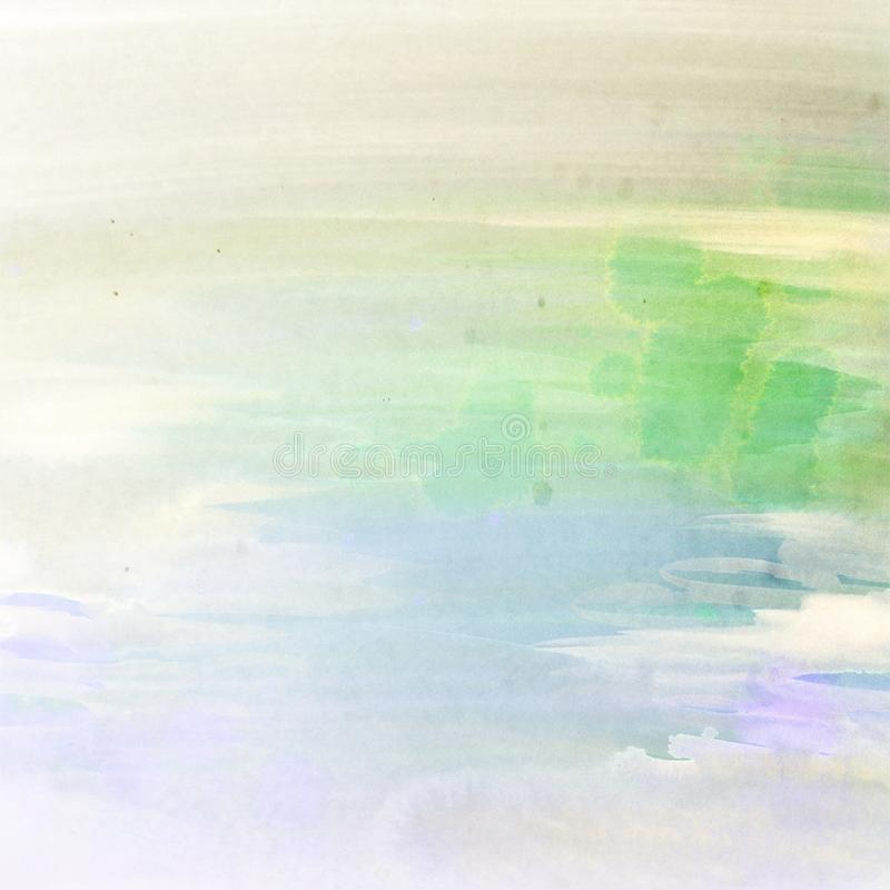 Εξασθενισμένο υπόβαθρο κρητιδογραφιών χρωμάτων κηλίδων Watercolors στοκ εικόνες