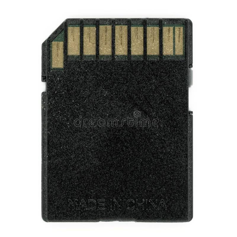εξασφαλίστε την ψηφιακή κάρτα μνήμης (SD) στοκ εικόνες
