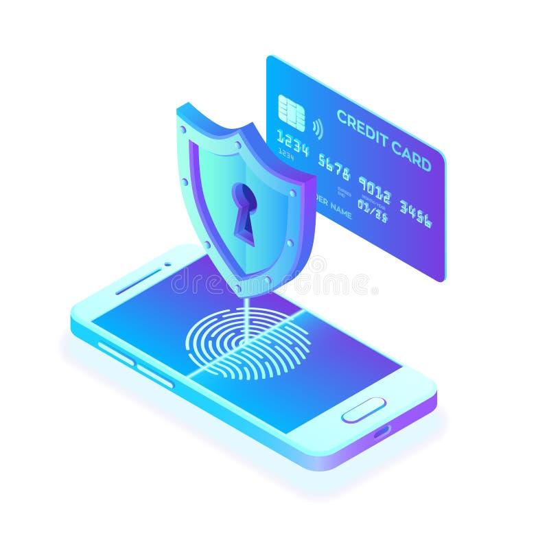 Εξασφαλίστε τις πληρωμές Έννοια προστασίας δεδομένων Προσωπική προστασία δεδομένων Έλεγχος πιστωτικών καρτών και στοιχεία πρόσβασ ελεύθερη απεικόνιση δικαιώματος
