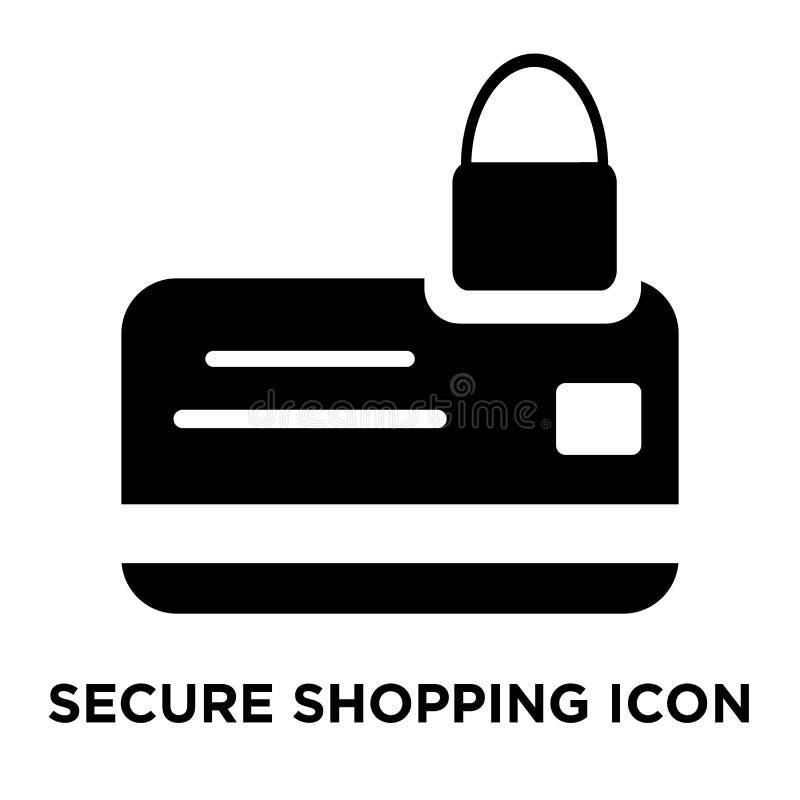 Εξασφαλίστε το διάνυσμα εικονιδίων αγορών που απομονώνεται στο άσπρο υπόβαθρο, λογότυπο γ ελεύθερη απεικόνιση δικαιώματος