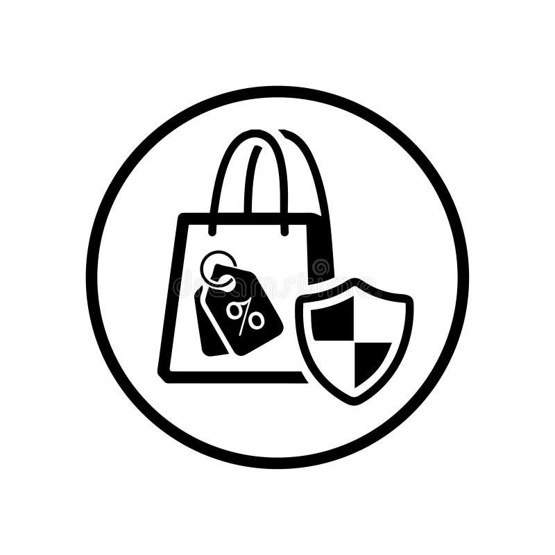 Εξασφαλίστε το εικονίδιο αγορών/την ασφάλεια on-line αγοράς απεικόνιση αποθεμάτων