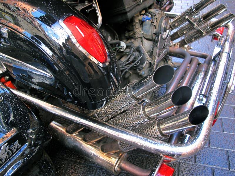 Εξατμίσεις μοτοσικλετών στοκ εικόνες