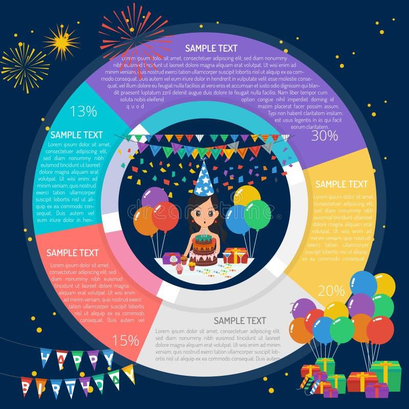 Εξαφανίστε το διάγραμμα Infographic κεριών απεικόνιση αποθεμάτων