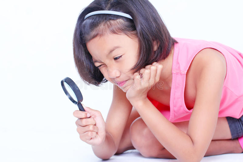 Εξερεύνηση του παιδιού στοκ φωτογραφία