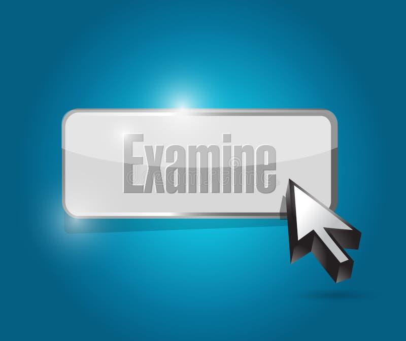 Εξετάστε το σχέδιο απεικόνισης κουμπιών απεικόνιση αποθεμάτων
