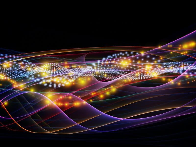 Εξελισσόμενο δυναμικό δίκτυο διανυσματική απεικόνιση