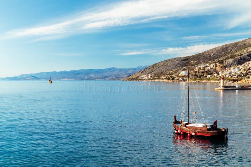 Εξισώνοντας στον κόλπο Senj, Κροατία στοκ εικόνα