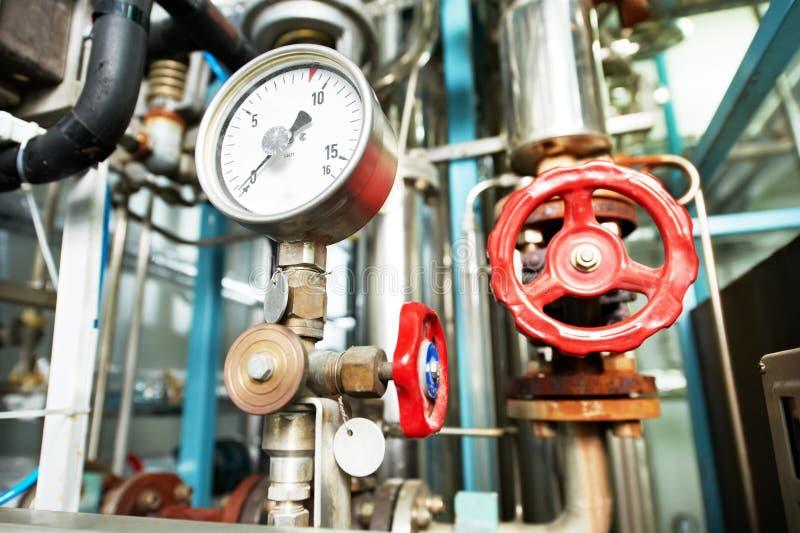 Εξοπλισμοί δωματίων λεβήτων συστημάτων θέρμανσης στοκ φωτογραφίες