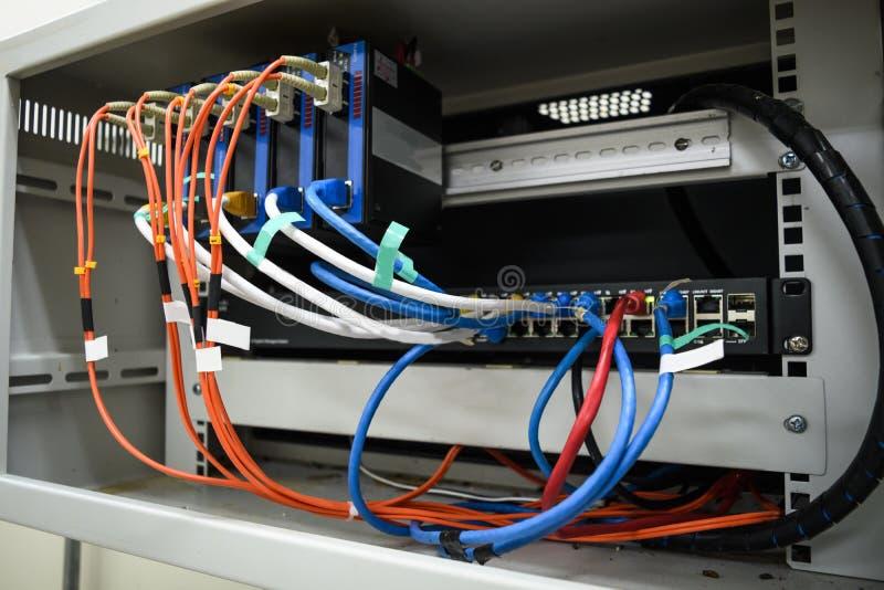 Εξοπλισμός δικτύων στο μικρό ράφι στοκ φωτογραφία με δικαίωμα ελεύθερης χρήσης