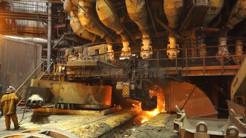 Εξοπλισμός και μηχανές στις μεταλλουργικές εγκαταστάσεις Βαριά βιομηχανία Στάσιμο άνοιγμα μηχανών στοκ εικόνες