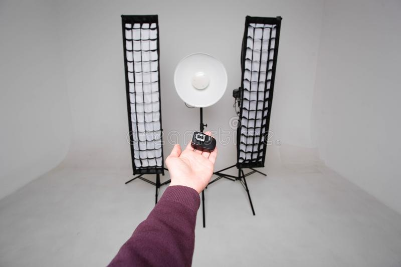 Εξοπλισμός και συγχρονιστής στούντιο στοκ εικόνες με δικαίωμα ελεύθερης χρήσης