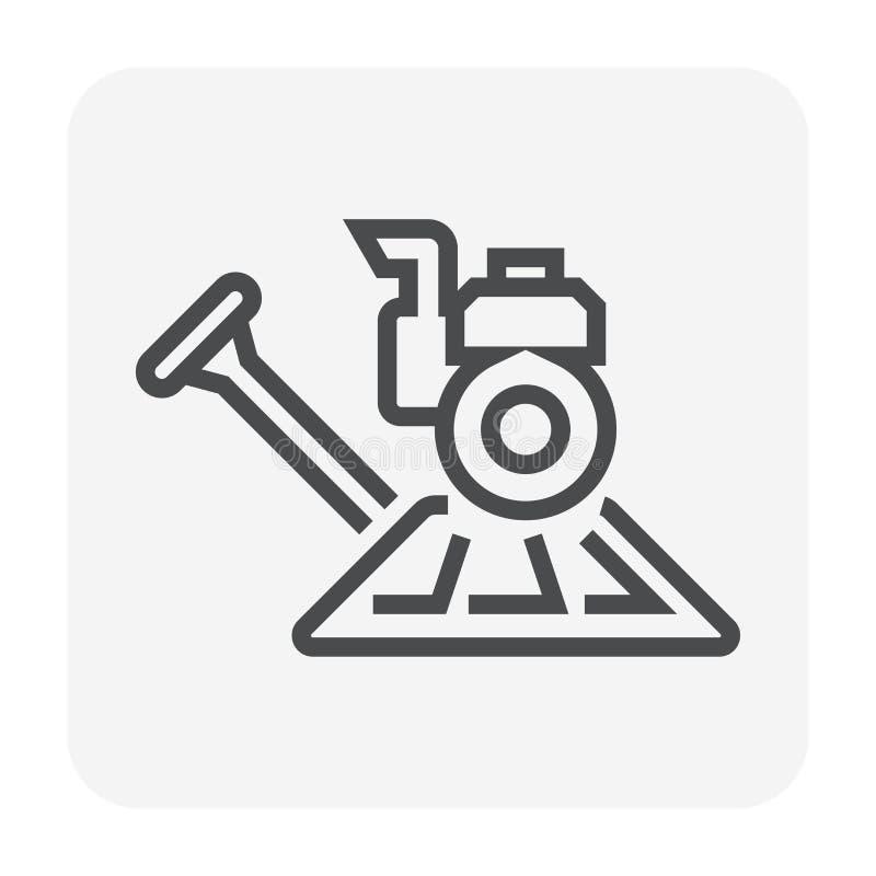 Εξοπλισμός στιλβωτικής ουσίας πλακών διανυσματική απεικόνιση