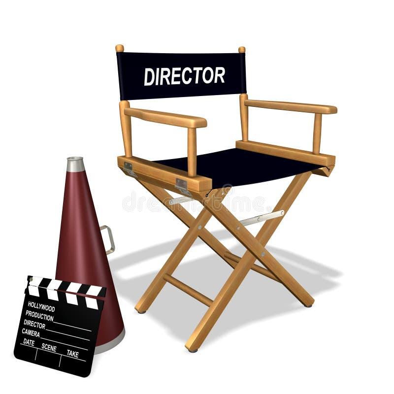 εξοπλισμός s σκηνοθέτη απεικόνιση αποθεμάτων