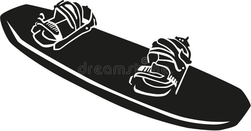 Εξοπλισμός πινάκων Wakeboarding διανυσματική απεικόνιση