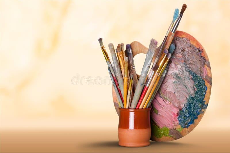 Εξοπλισμός τέχνης και τεχνών στοκ φωτογραφία