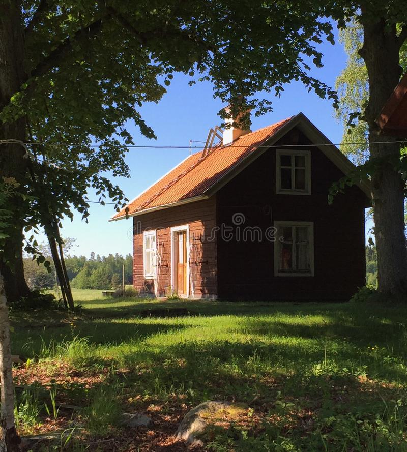 Εξοχικό σπίτι κούτσουρων στοκ φωτογραφία