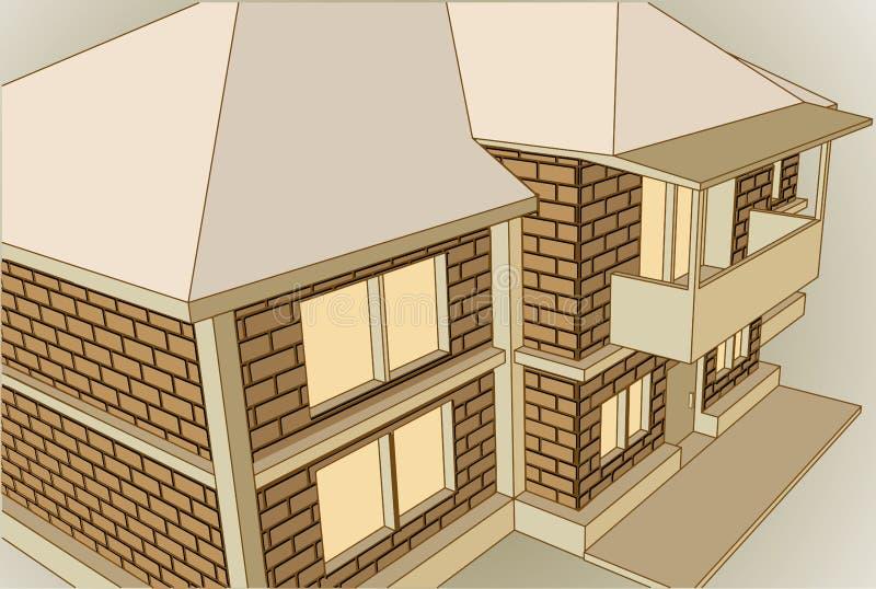 εξοχικό σπίτι περίεργο ελεύθερη απεικόνιση δικαιώματος