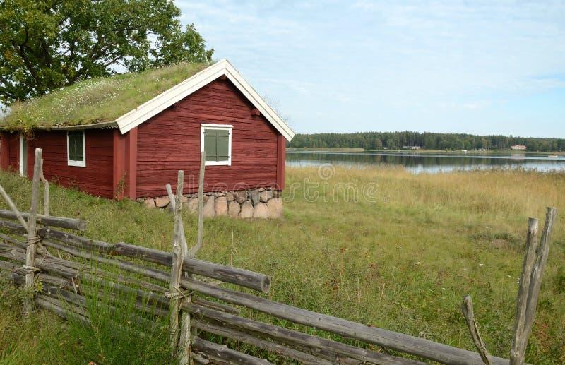 εξοχικό σπίτι σουηδικά στοκ φωτογραφία