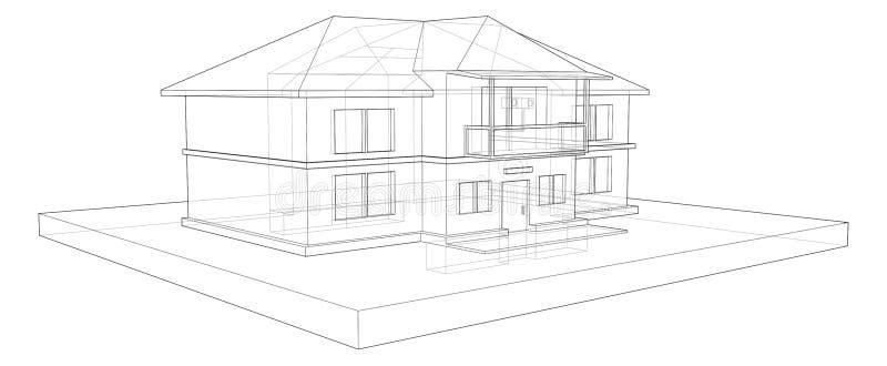 Εξοχικό σπίτι δύο πατώματα στοκ φωτογραφία