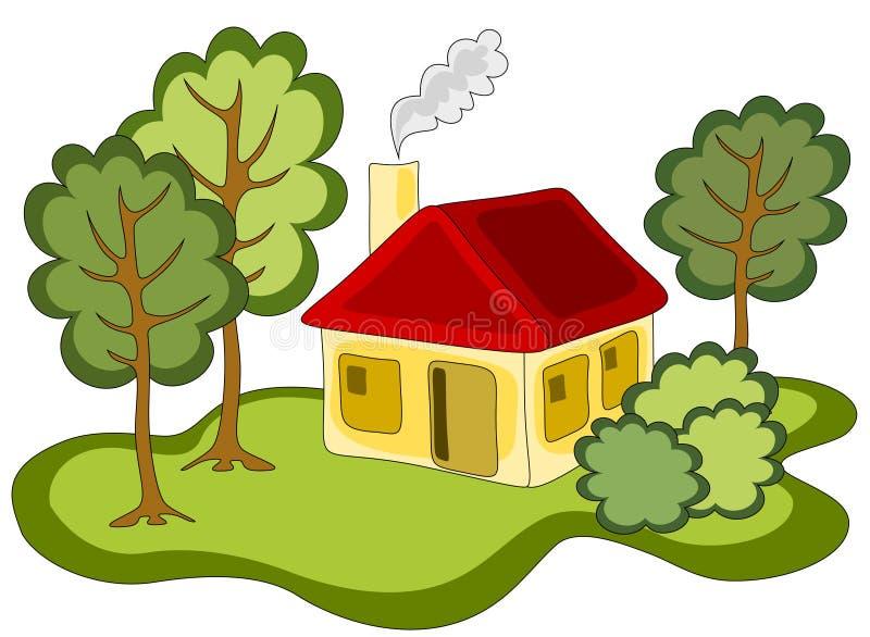 εξοχικό σπίτι διανυσματική απεικόνιση