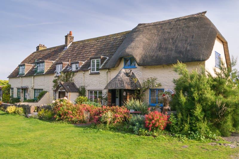 Εξοχικό σπίτι Thatched Weir Porlock σε Somerset στοκ εικόνες