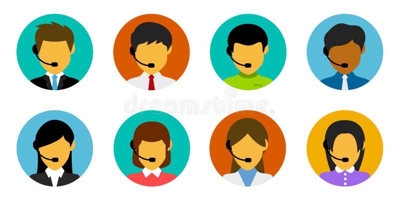Εξυπηρέτηση πελατών, υποστήριξη τεχνολογίας, επιχείρηση, μάρκετινγκ διανυσματική απεικόνιση