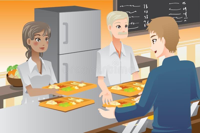 Εξυπηρετώντας τρόφιμα απεικόνιση αποθεμάτων