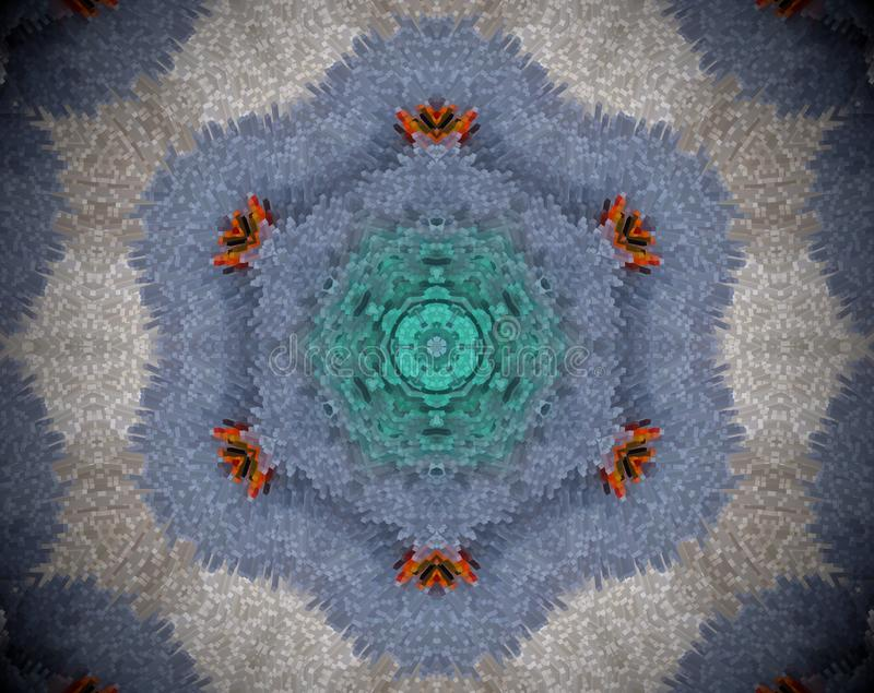 Εξωθημένο περίληψη mandala διανυσματική απεικόνιση