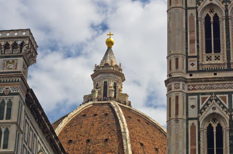 Εξωτερικές λεπτομέρειες του καθεδρικού ναού της Σάντα Μαρία del Fiore στη Φλωρεντία, Τοσκάνη στοκ φωτογραφίες με δικαίωμα ελεύθερης χρήσης